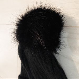 Cotton On Accessories - Cotton On Black Puff Ball Hat 180b15ec6d9c